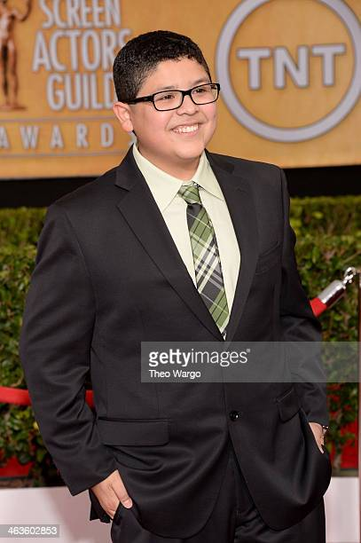 Actor Rico Rodriguez attends 20th Annual Screen Actors Guild Awards at The Shrine Auditorium on January 18 2014 in Los Angeles California