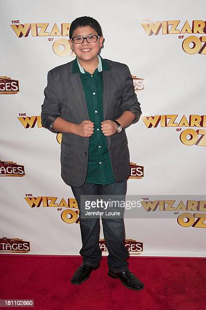 Actor Rico Rodriguez attends opening night for 'The Wizard of Oz' at the Pantages Theatre on September 18 2013 in Hollywood California