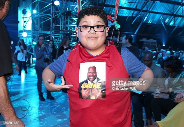 Actor Rico Rodriguez attends the 2012 Cartoon Network Hall of Game Awards at Barker Hangar on February 18, 2012 in Santa Monica, California....
