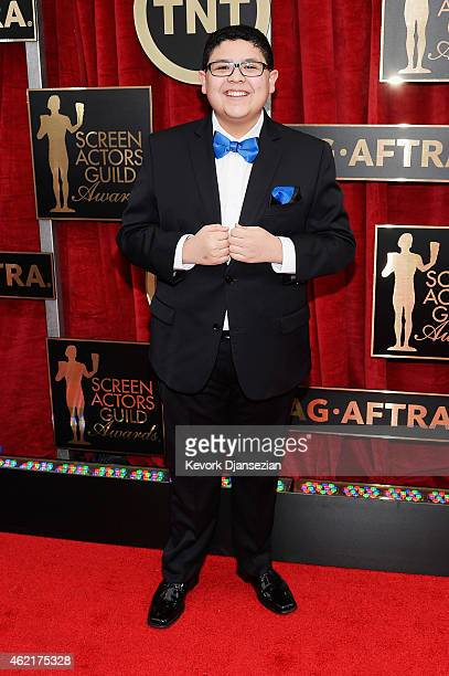 Actor Rico Rodriguez attends the 21st Annual Screen Actors Guild Awards at The Shrine Auditorium on January 25 2015 in Los Angeles California