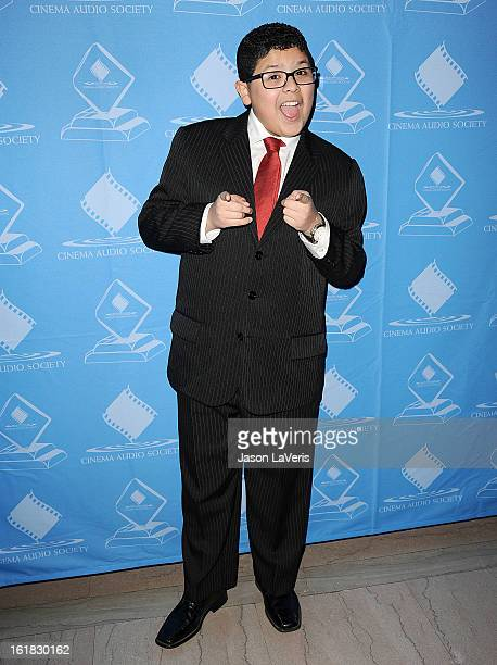 Actor Rico Rodriguez attends the 49th annual Cinema Audio Society Guild Awards at Millennium Biltmore Hotel on February 16 2013 in Los Angeles...
