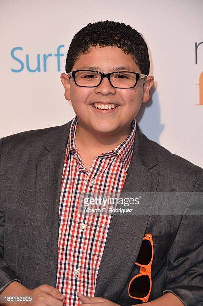 Actor Rico Rodriguez attends USA Network's 'Modern Family' fan appreciation day at Westwood Village on October 28 2013 in Los Angeles California