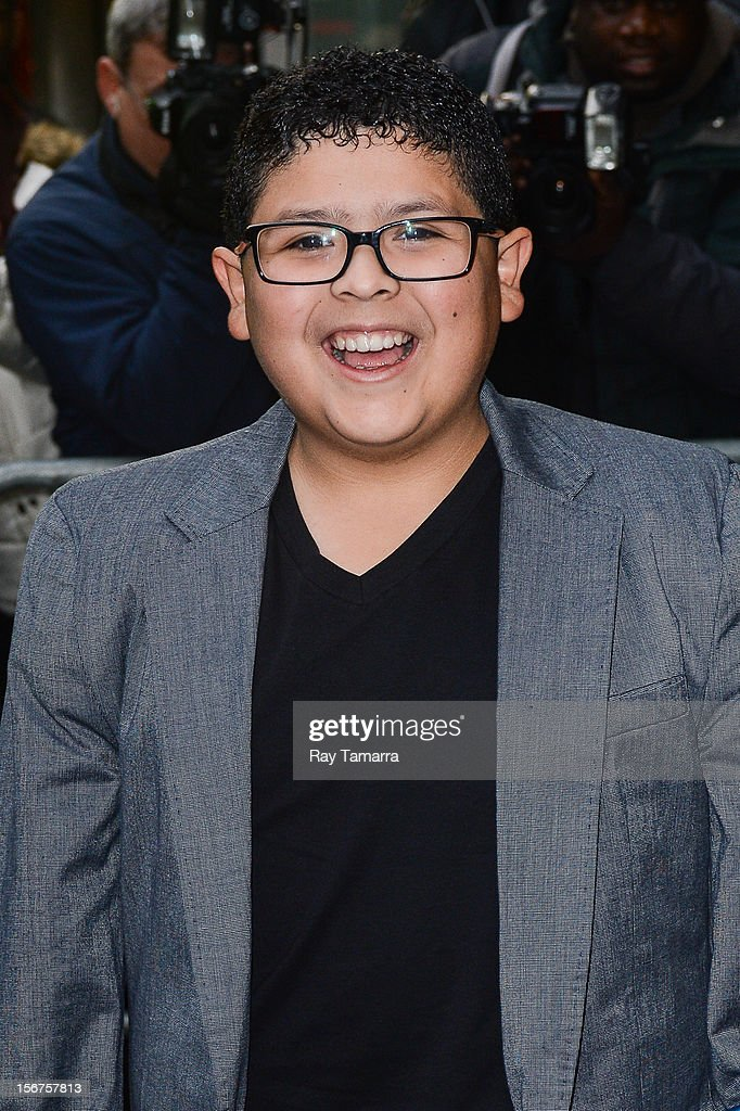 Actor Rico Rodriguez enters the 'Good Morning America' taping at the ABC Times Square Studios on November 20, 2012 in New York City.