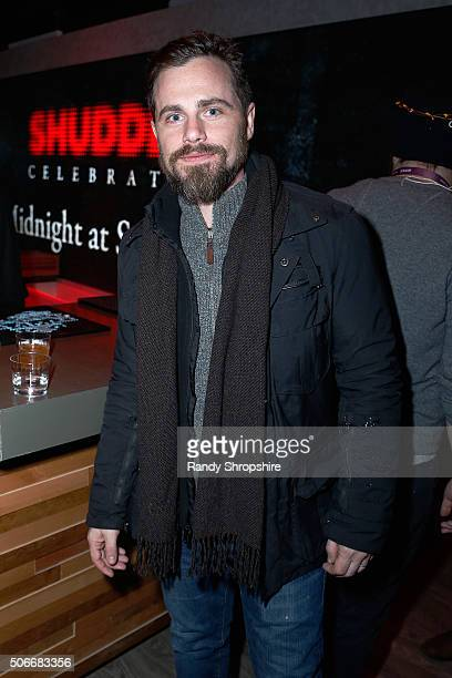 Actor Rider Strong celebrates as Shudder presents The 1st Official Midnight Sundance Party at The SundanceTV Headquarters during the Sundance Film...