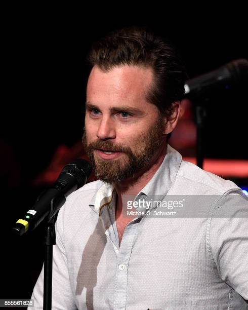 Actor Rider Strong speaks during his appearance at Deep In The Heart A Concert For Hurricane Relief at El Portal Theatre on September 28 2017 in...