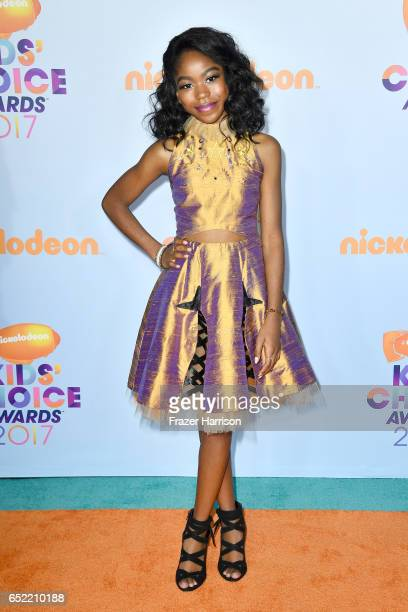 Actor Riele Downs at Nickelodeon's 2017 Kids' Choice Awards at USC Galen Center on March 11 2017 in Los Angeles California
