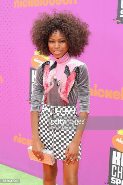 Actor Riele Downs attends Nickelodeon Kids' Choice Sports Awards 2017 at Pauley Pavilion on July 13 2017 in Los Angeles California