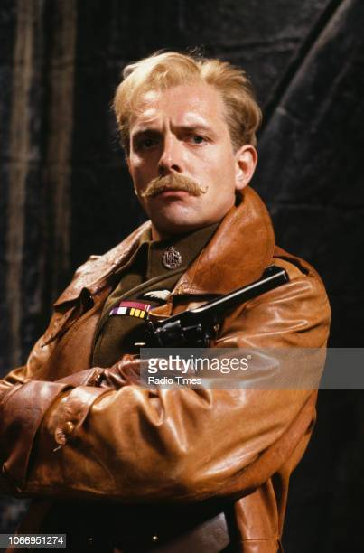 Actor Rik Mayall in a scene from episode 'Private Plane' of the television sitcom 'Blackadder Goes Forth', September 17th 1989.
