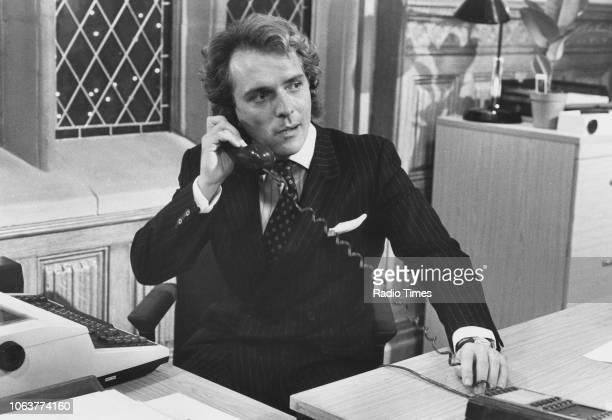 Actor Rik Mayall in a scene from the television show 'The New Statesman', January 10th 1988.