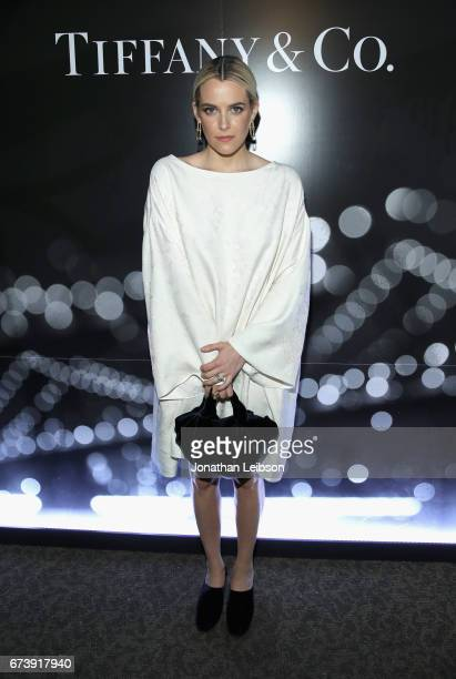 Actor Riley Keough at the Tiffany HardWear Los Angeles Preview with The Art of Elysium at Elysium Art Salons on April 26 2017 in Los Angeles...