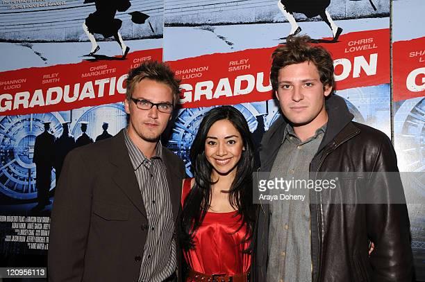 "Actor Riley Smith, Actress Aimee Garcia and Actor Brandon Hanson attend the ""Graduation"" movie premiere at the Landmark Embarcadero Theatre, May 1,..."