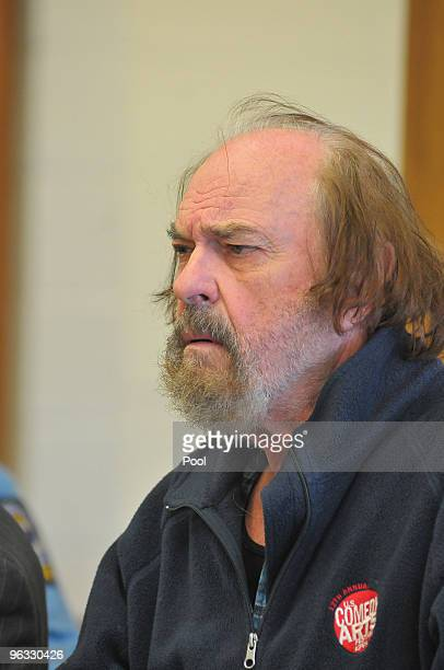 Actor Rip Torn appears in Bantam Superior Court February 1 2010 in Bantam Connecticut Torn was arraigned on charges of criminal trespass carrying a...