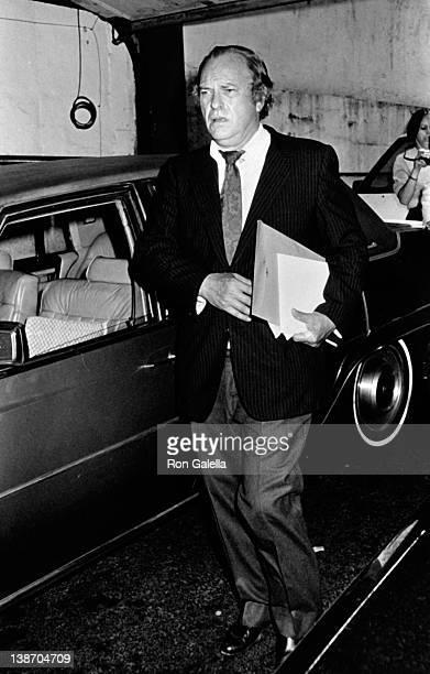 Actor Rip Torn attends Geraldine Page Memorial Service on June 17 1987 at the Neil Simon Theater in New York City