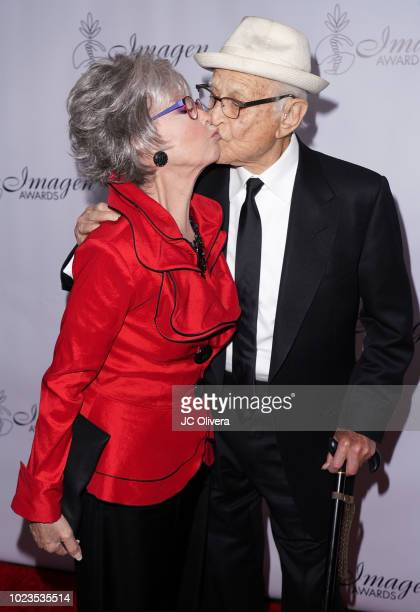 Actor Rita Moreno and writer Norman Lear attend the 33rd Annual Imagen Awards at JW Marriott Los Angeles at LA LIVE on August 25 2018 in Los Angeles...