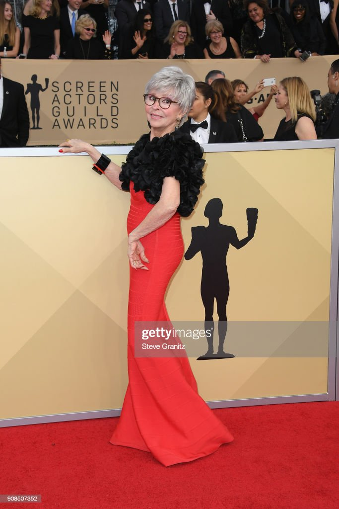 Actor Rita Moreno attends the 24th Annual Screen Actors Guild Awards at The Shrine Auditorium on January 21, 2018 in Los Angeles, California.