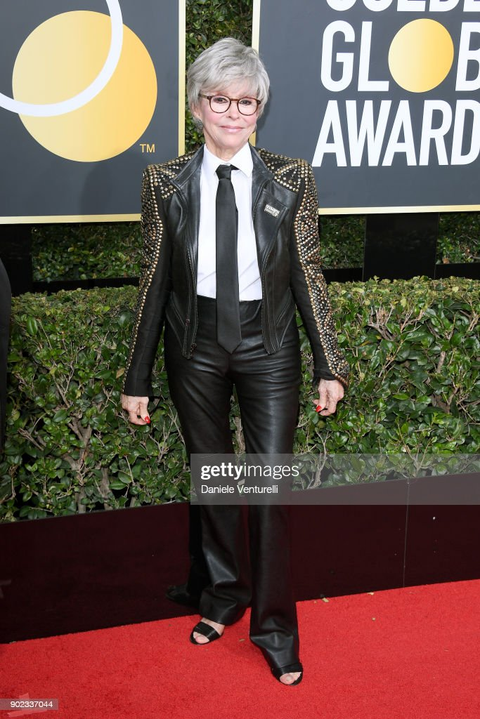 Actor Rita Moreno attends The 75th Annual Golden Globe Awards at The Beverly Hilton Hotel on January 7, 2018 in Beverly Hills, California.