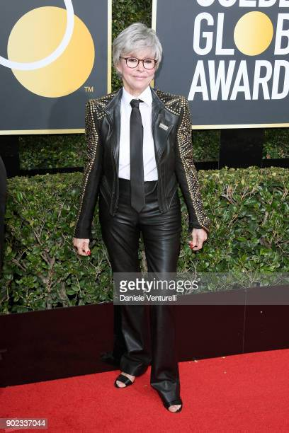 Actor Rita Moreno attends The 75th Annual Golden Globe Awards at The Beverly Hilton Hotel on January 7 2018 in Beverly Hills California