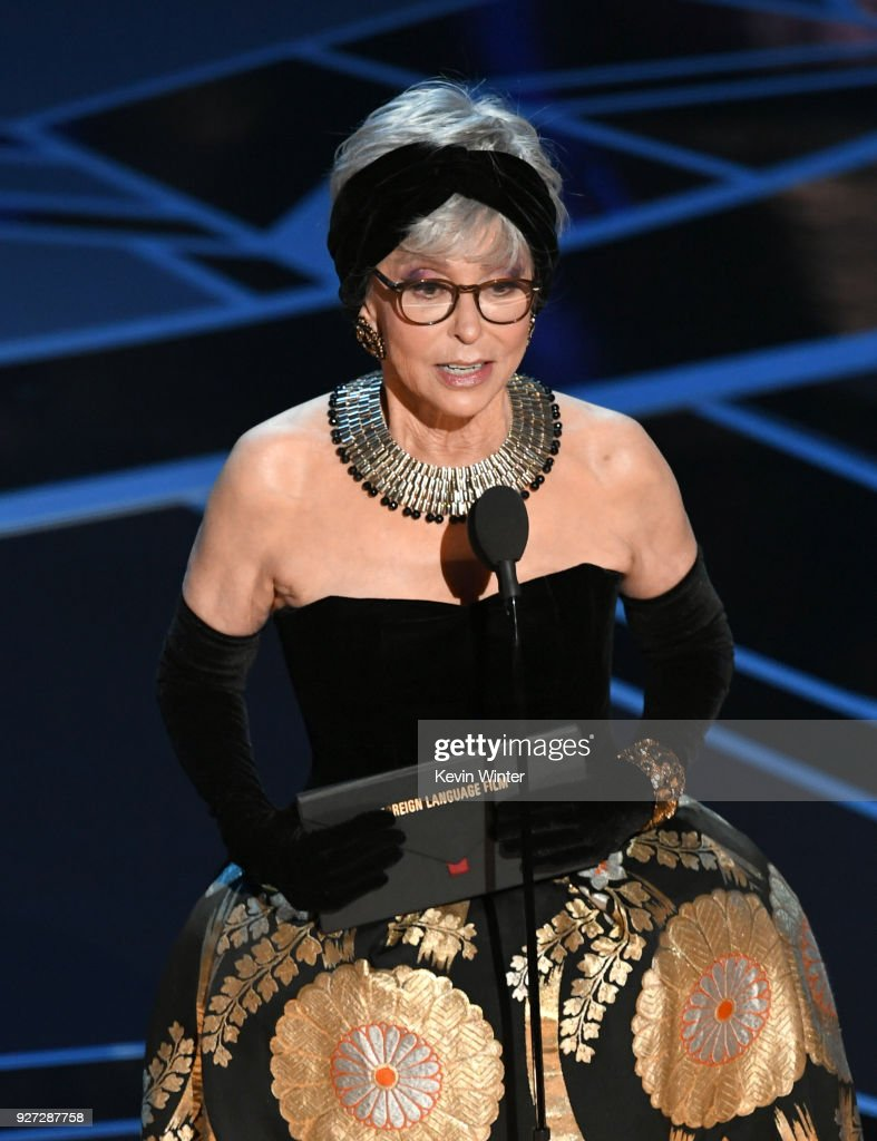 Actor Rita Moreno speaks onstage during the 90th Annual Academy Awards at the Dolby Theatre at Hollywood & Highland Center on March 4, 2018 in Hollywood, California.