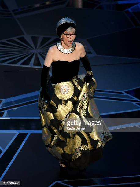 Actor Rita Moreno walks onstage during the 90th Annual Academy Awards at the Dolby Theatre at Hollywood Highland Center on March 4 2018 in Hollywood...