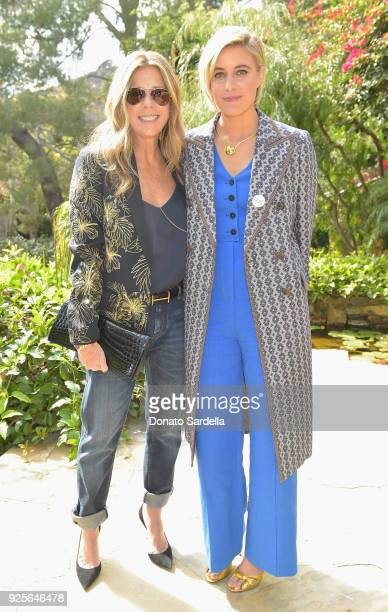 Actor Rita Wilson and nominee Greta Gerwig attend the DVF Oscar Luncheon Honoring The Female Nominees Of The 90th Academy Awards on February 28 2018...