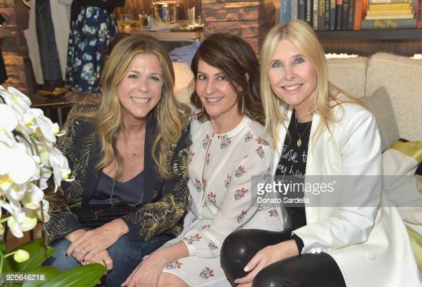 Actor Rita Wilson Nia Vardalos and philanthropist Irena Medavoy attend the DVF Oscar Luncheon Honoring The Female Nominees Of The 90th Academy Awards...