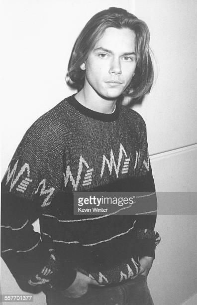 Actor River Phoenix at the Academy Awards luncheon for Oscars nominees where he is nominated for the film 'Running on Empty' at the Beverly Hilton...