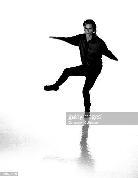 Actor River Phoenix poses at a photo shoot in a studio in Los AngelesCalifornia These were the last photos shot of River Phoenix who died on October...