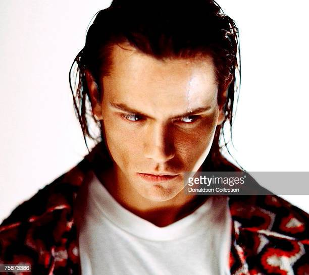 Actor River Phoenix poses at a photoshoot in a studio in Los AngelesCalifornia These were the last photos shot of River Phoenix who died on October...