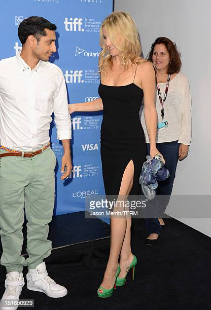 Actor Riz Ahmed actress Kate Hudson and producer Lydia Dean Pilcher attend The Reluctant Fundamentalist Photo Call during the 2012 Toronto...