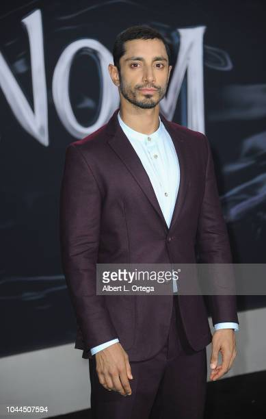 """Actor Riz Ahmed arrives for Premiere Of Columbia Pictures' """"Venom"""" held at Regency Village Theatre on October 1, 2018 in Westwood, California."""