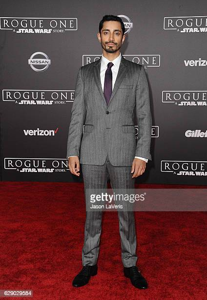 Actor Riz Ahmed attends the premiere of Rogue One A Star Wars Story at the Pantages Theatre on December 10 2016 in Hollywood California