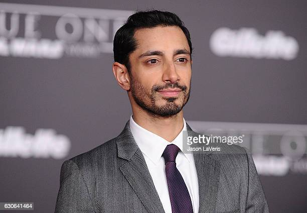 Actor Riz Ahmed attends the premiere of 'Rogue One A Star Wars Story' at the Pantages Theatre on December 10 2016 in Hollywood California