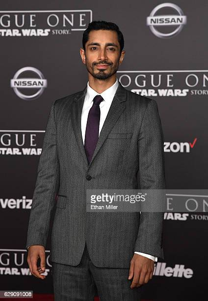 Actor Riz Ahmed attends the premiere of Walt Disney Pictures and Lucasfilm's Rogue One A Star Wars Story at the Pantages Theatre on December 10 2016...
