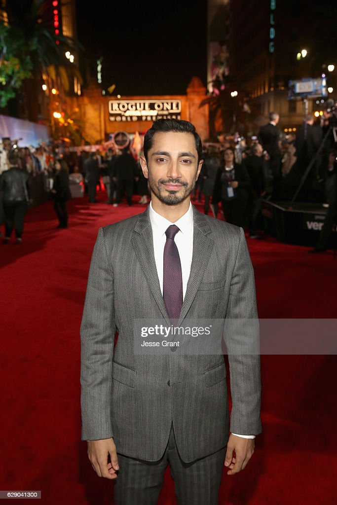 Actor Riz Ahmed attends The World Premiere of Lucasfilm's highly anticipated, first-ever, standalone Star Wars adventure, 'Rogue One: A Star Wars Story' at the Pantages Theatre on December 10, 2016 in Hollywood, California.