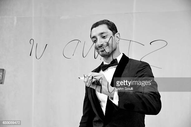 Actor Riz Ahmed backstage at The 23rd Annual Screen Actors Guild Awards at The Shrine Auditorium on January 29 2017 in Los Angeles California...