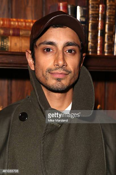 Actor Riz Ahmed poses at the Esquire Party during the London Collections Men AW14 at Rosewood London on January 6 2014 in London England