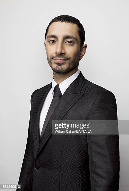 Actor Riz Ahmed poses for a portraits at the BAFTA Tea Party at Four Seasons Hotel Los Angeles at Beverly Hills on January 7, 2017 in Los Angeles,...