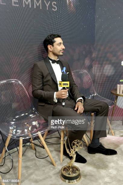 Actor Riz Ahmed winner of the award for Outstanding Lead Actor in a Limited Series or Movie for 'The Night of' attends IMDb LIVE After the Emmys at...