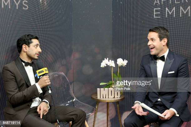 Actor Riz Ahmed winner of the award for Outstanding Lead Actor in a Limited Series or Movie for 'The Night of' and host Dave Karger attend IMDb LIVE...