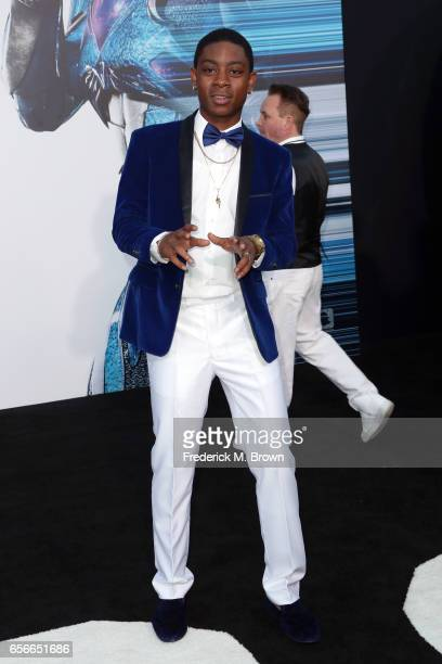 Actor RJ Cyler at the premiere of Lionsgate's 'Power Rangers' on March 22 2017 in Westwood California