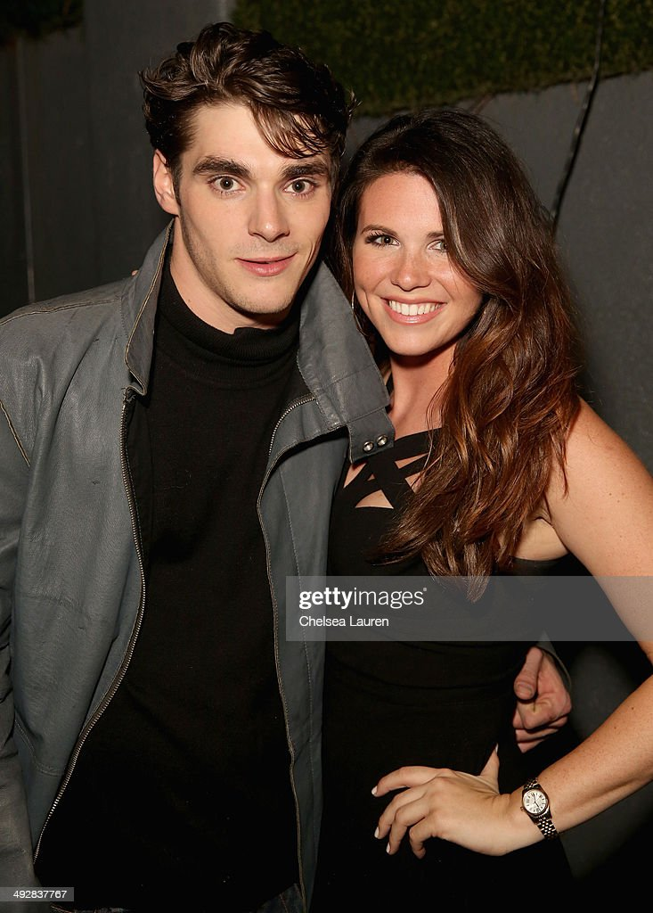 Actor RJ Mitte and Ainsley Britain attend OK Magazine's So Sexy L.A. Event at LURE on May 21, 2014 in Los Angeles, California.