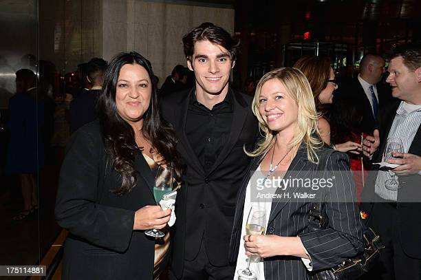 Actor RJ Mitte and guests attend the 'Breaking Bad' NY Premiere 2013 after party at Lincoln Ristorante on July 31 2013 in New York City