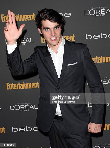Actor RJ Mitte arrives at Entertainment Weekly's Pre-Emmy Party at Fig & Olive Melrose Place on September 20, 2013 in West Hollywood, California.
