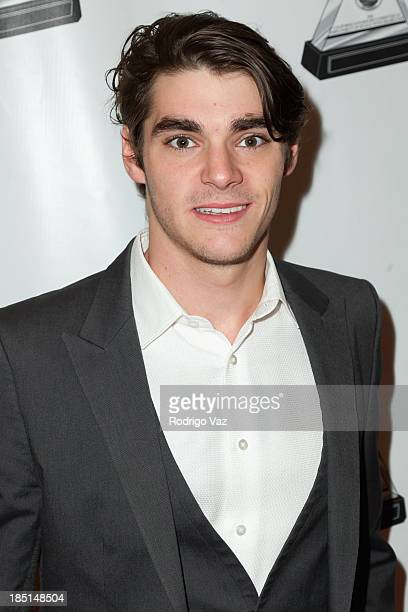 Actor RJ Mitte arrives at the 2013 Media Access Awards at The Beverly Hilton Hotel on October 17, 2013 in Beverly Hills, California.