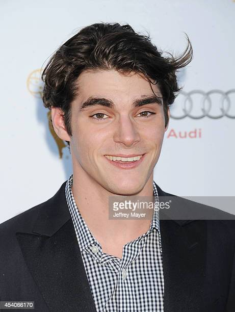 Actor RJ Mitte arrives at the Television Academy's 66th Emmy Awards Performance Nominee Reception at the Pacific Design Center on Saturday, Aug. 23...