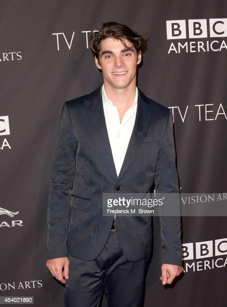 Actor RJ Mitte attends the 2014 BAFTA Los Angeles TV Tea presented by BBC America And Jaguar at SLS Hotel on August 23, 2014 in Beverly Hills,...