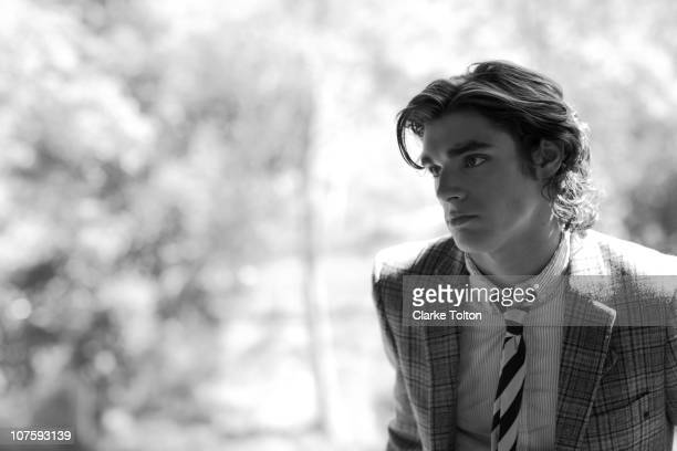 Actor RJ Mitte poses at a portrait session for Nylon Magazine on July 05 2010 in Los Angeles California