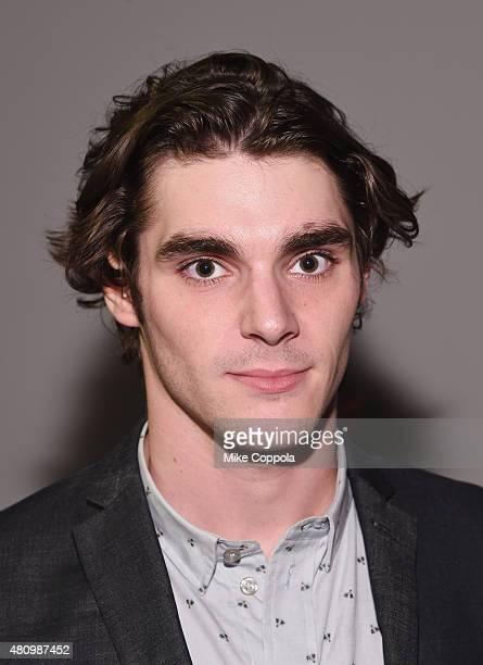 Actor RJ Mitte poses for a picture at the Parke & Ronen mens fashion show at New York Fashion Week: Men's S/S 2016at Skylight Clarkson Sq on July 16,...