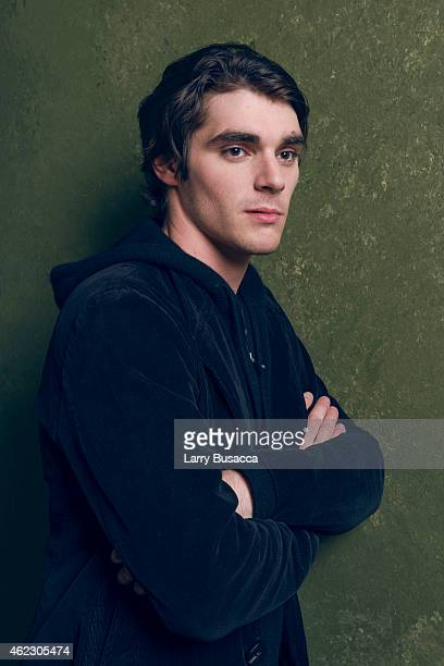 Actor RJ Mitte poses for a portrait at the Village at the Lift Presented by McDonald's McCafe during the 2015 Sundance Film Festival on January 26,...