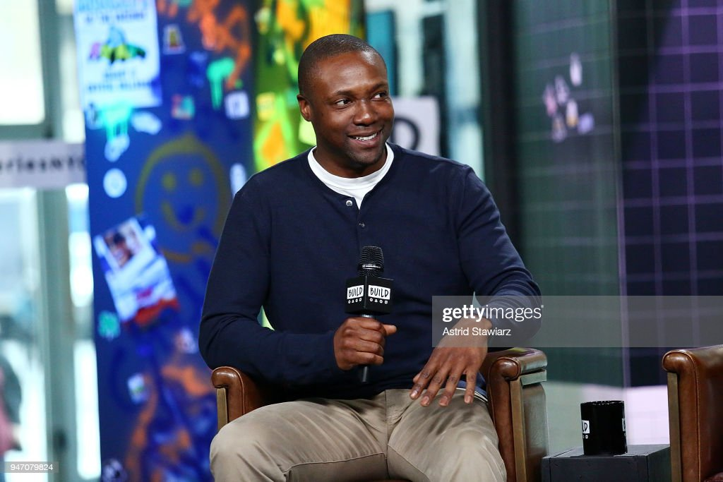 Actor Rob Brown discusses the NBC drama Blindspot at Build Studio on April 16, 2018 in New York City.